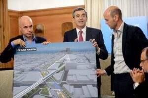 Acuerdo para elevar el Ferrocarril San Martín