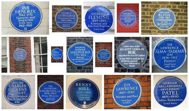 Placas recordatorias en Londres