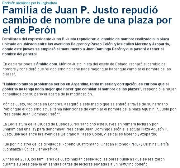 Llamarse Perón es Justo