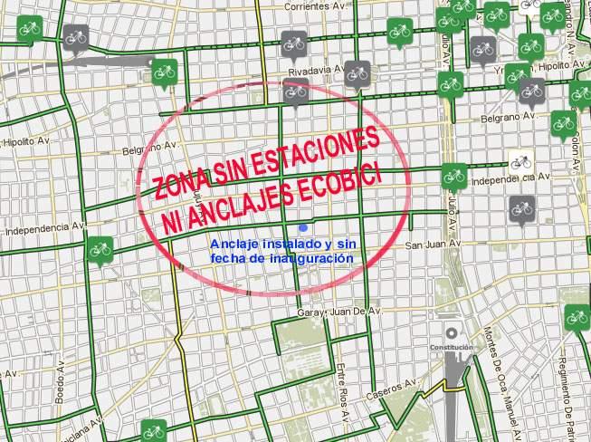 Comuna 3 sin anclajes de bicicletas de la Ciudad