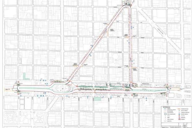 El circuito callejero de Buenos Aires para el TC 2000