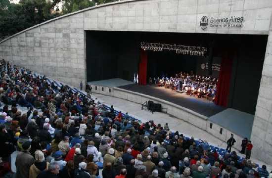 Anfiteatro Eva Perón, de Parque Centenario, con escenario de 18 m x 12 m y 1620 butacas