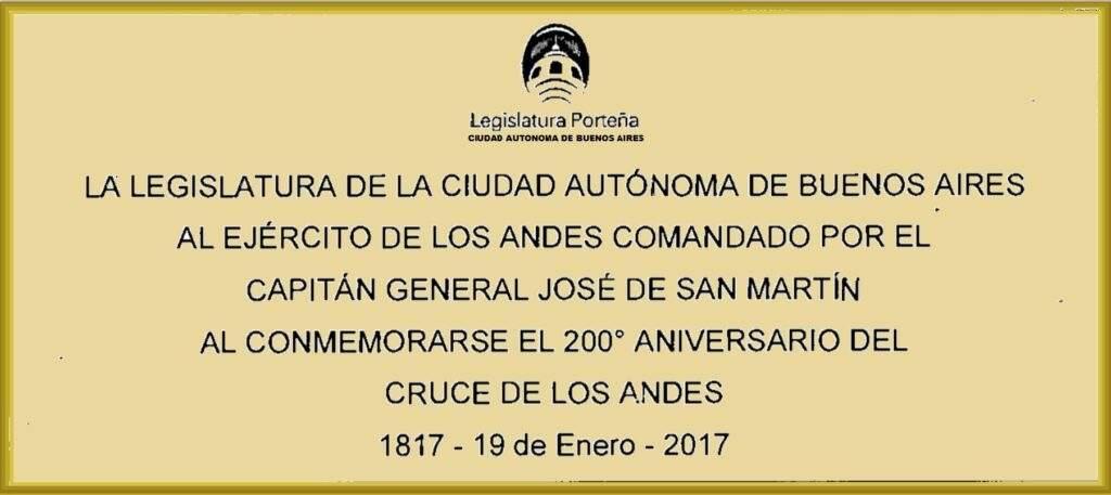 La Legislatura en el Bicentenario del Cruce de Los Andes