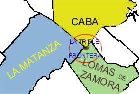 La triple frontera. La Salada está ubicada donde convergen los tres distritos más poblados del país.