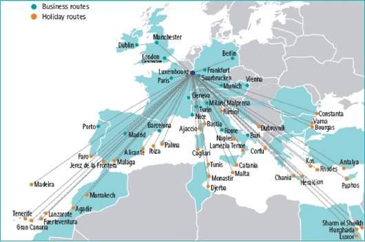 Luxair, a través de sus tarifas l/c movilizan fuertemente el flujo de pasajeros a Luxemburgo