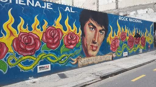 Así lucía el mural en 2014