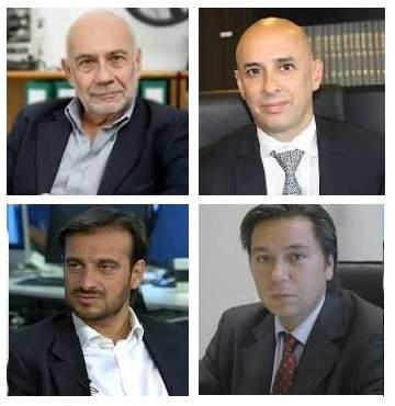 Julio Raffo, Martín Ocampo, Diego Mestre y Daniel Presti