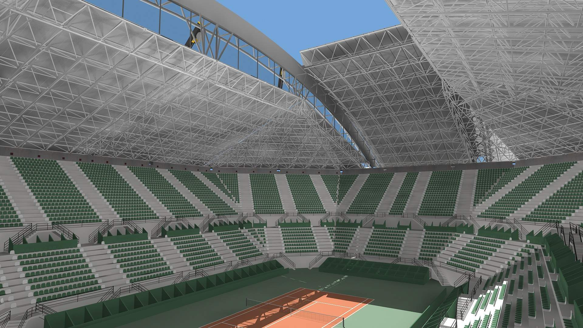 Presentación del Estadio Mary Terán de Weiss para los juegos