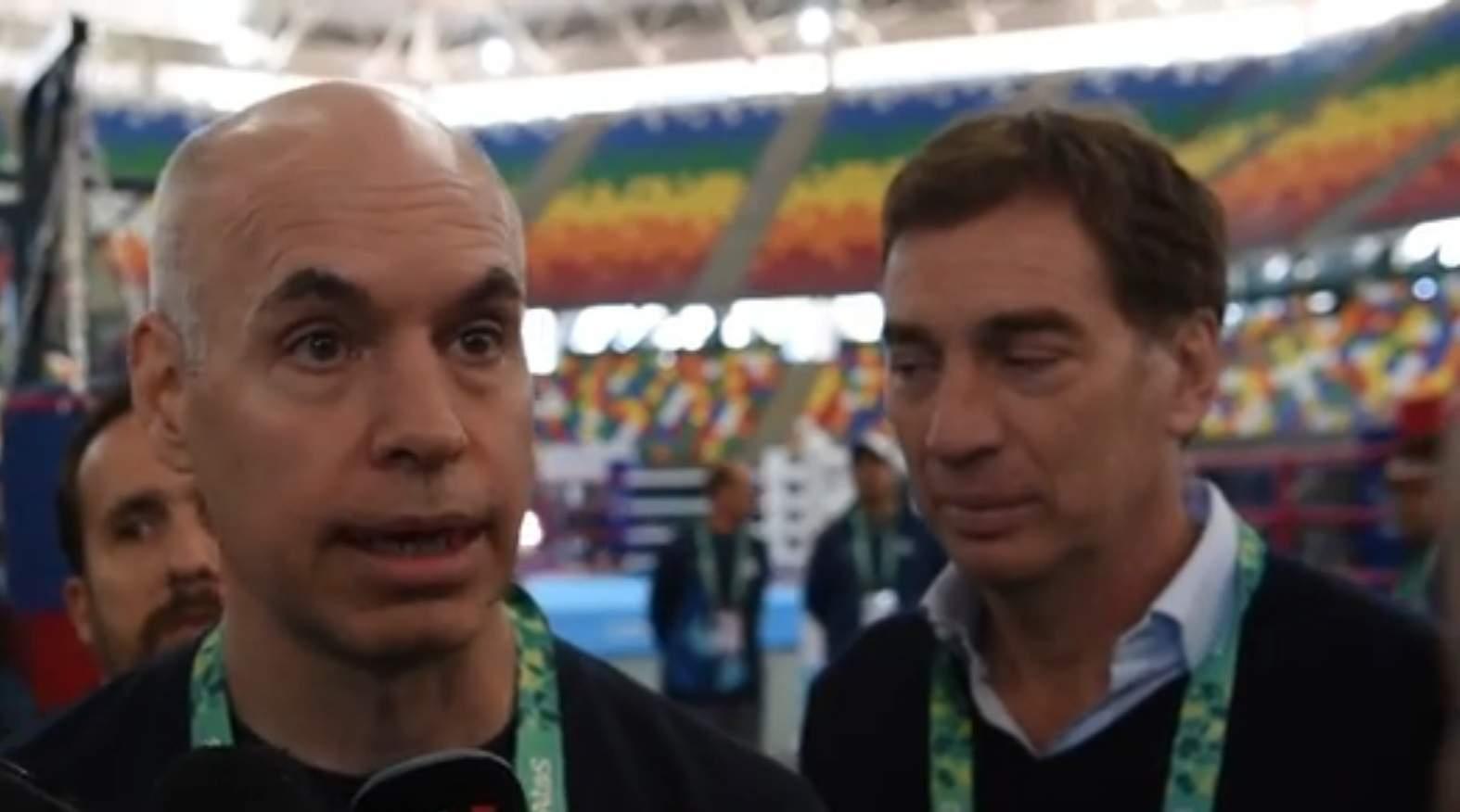 Horacio Rodríguez Larreta y Diego Santilli en el Mary Terán.